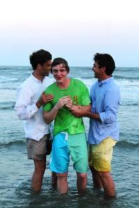 Roberts Baptism after